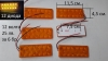 6 бр. 12 волта с  12 диода габарити висящи с код  РМ 255