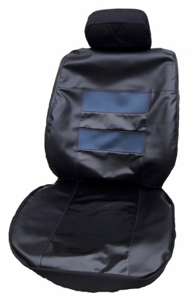 Кожен калъф за седалки черно с тъмно синьо с код КОД K 19