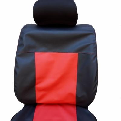 Кожени Калъфи За Седалки Черно С Червено С Червени Конци С КОД К 151