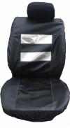 Кожен калъф за седалки черно със сребристо с КОД K 10
