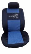 Калъф за седалки без дунапрен, черно с дънков плат, с КОД АК 14