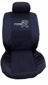 Калъф за седалки без дунапрен, черно с черен дънков плат, с КОД АК 17
