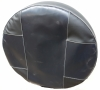 Двуцветен Много Тъмно Сиво И Черно Калъф За Резервна Гума Диаметър 67 см За 15 Цола код КМ 847