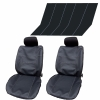 Leather  Full Set Front & Rear Car Seat Covers Protector Universal