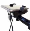 USB Презареждащ Велосипеден Фар Със Сирена И Поставка За Телефон С Код ФМ 1