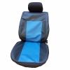 Кожени Калъфи За Седалки Черно Със Синьо Със Сини Конци С КОД К 152